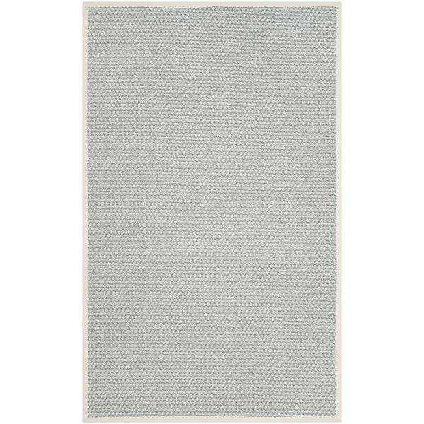 Natural Fiber Silver/Gray Area Rug by Darby Home Co
