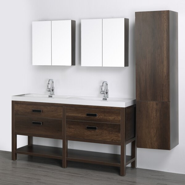 63 Single Bathroom Vanity Set with Mirror by Streamline Bath