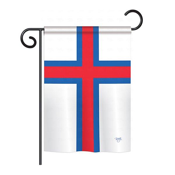 Faroe Islands 2-Sided Vertical Flag by Breeze Decor