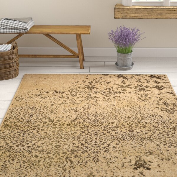 Kulpmont Abstract Tan Area Rug by Gracie Oaks