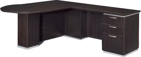 Pimlico Right Peninsula L-Shape Peninsula Executive Desk by Flexsteel Contract