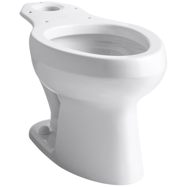 Wellworth 1.6 GPF Elongated Toilet Bowl (Seat Not Included) by Kohler