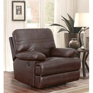 Koehn Leather Power Recliner Red Barrel Studio