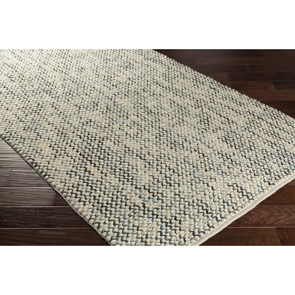 Nicolle Hand-Woven Beige/Gray Wool Area Rug by Highland Dunes