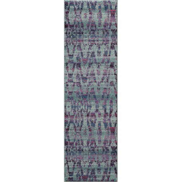 Denissa Ikat Blue Area Rug by Mistana