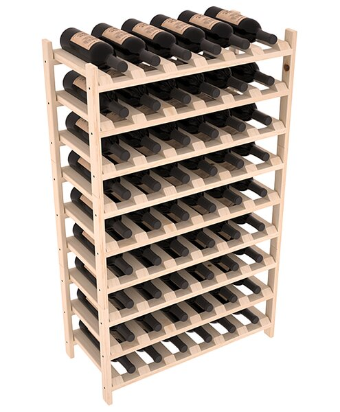 Karnes Scalloped 54 Bottle Floor Wine Bottle Rack by Red Barrel Studio Red Barrel Studio