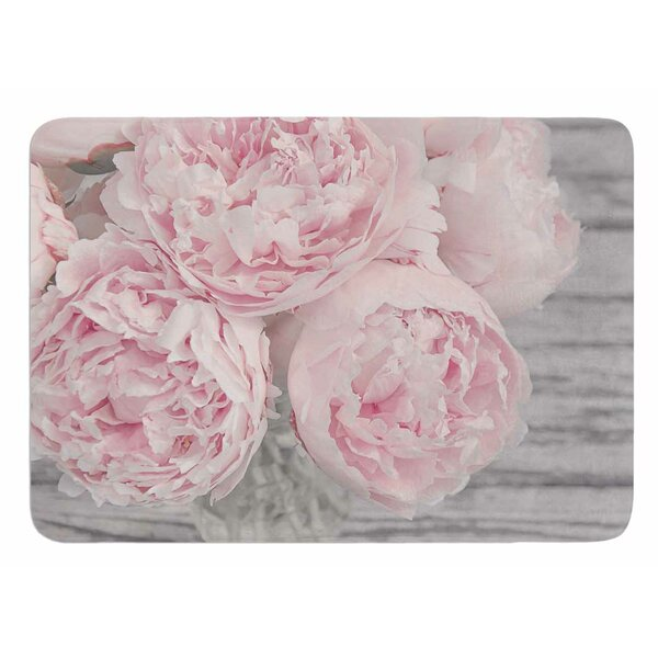 Peony Flowers by Suzanne Harford Bath Mat by East Urban Home