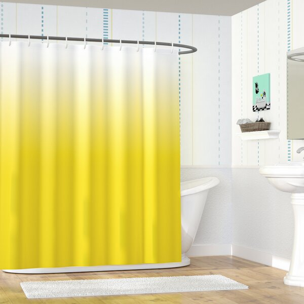 Maddox Blue Rise and Shine Art Shower Curtain by Zoomie Kids