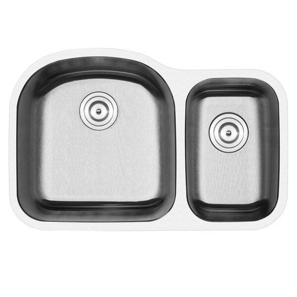 Foster Stainless Steel 32 L x 21 W Double Basin Undermount Kitchen Sink by Phoenix