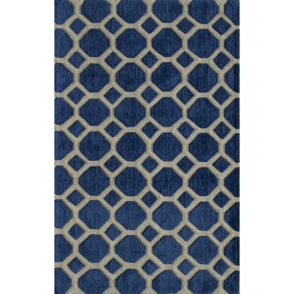 Chance Hand-Tufted Navy Area Rug by Willa Arlo Interiors