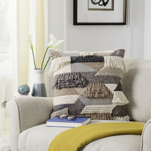 Banstead Wool Throw Pillow by Foundry Select