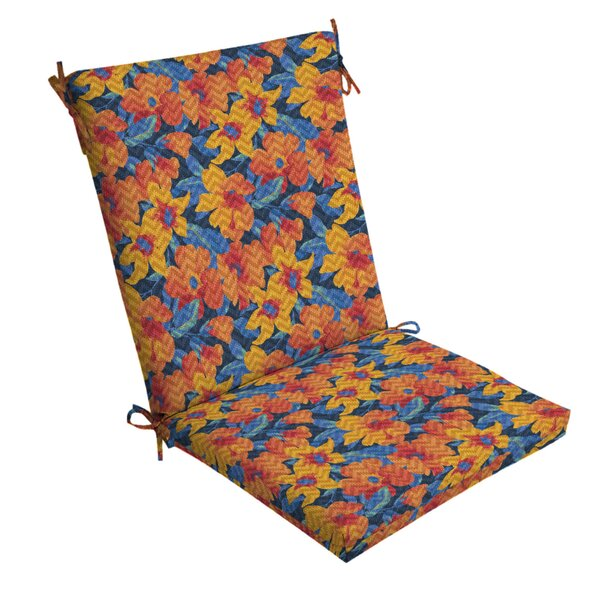 Floral Outdoor Dining Chair Cushion
