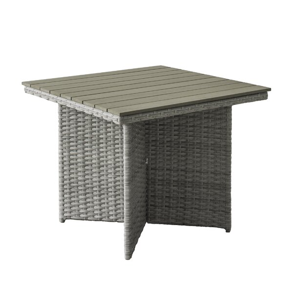 Killingworth Weather Resistant Resin Wicker Patio Dining Table by Rosecliff Heights
