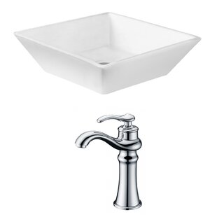Buy luxury Ceramic Square Vessel Bathroom Sink with Faucet By Royal Purple Bath Kitchen