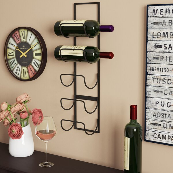Leveson 5 Bottle Wall Mounted Wine Rack by Charlton Home