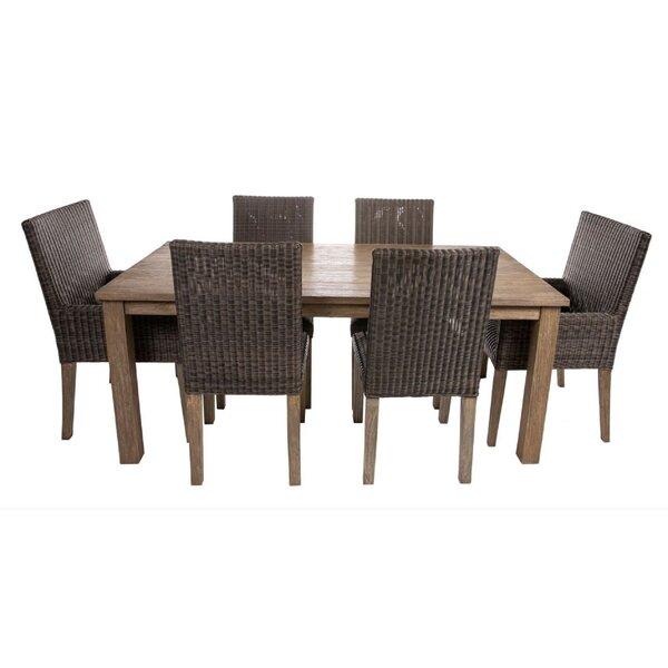 Malloy 7 Piece Teak Dining Set Bayou Breeze W001114537