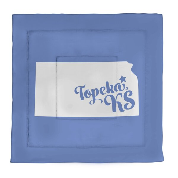 Topeka Kansas Single Reversible Comforter