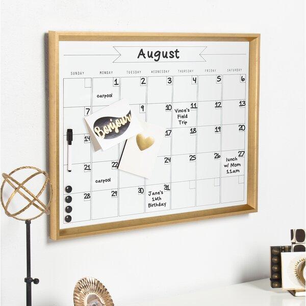 Calder Magnetic Wall Mounted Calendar Board by DesignOvation