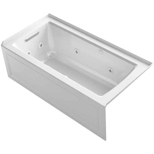 Archer Alcove Whirlpool and BubbleMassage™ Air Bath with Left-Hand Drain by Kohler