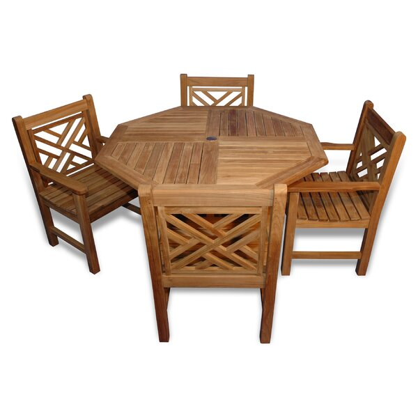Charleston 5 Piece Teak Dining Set by Regal Teak