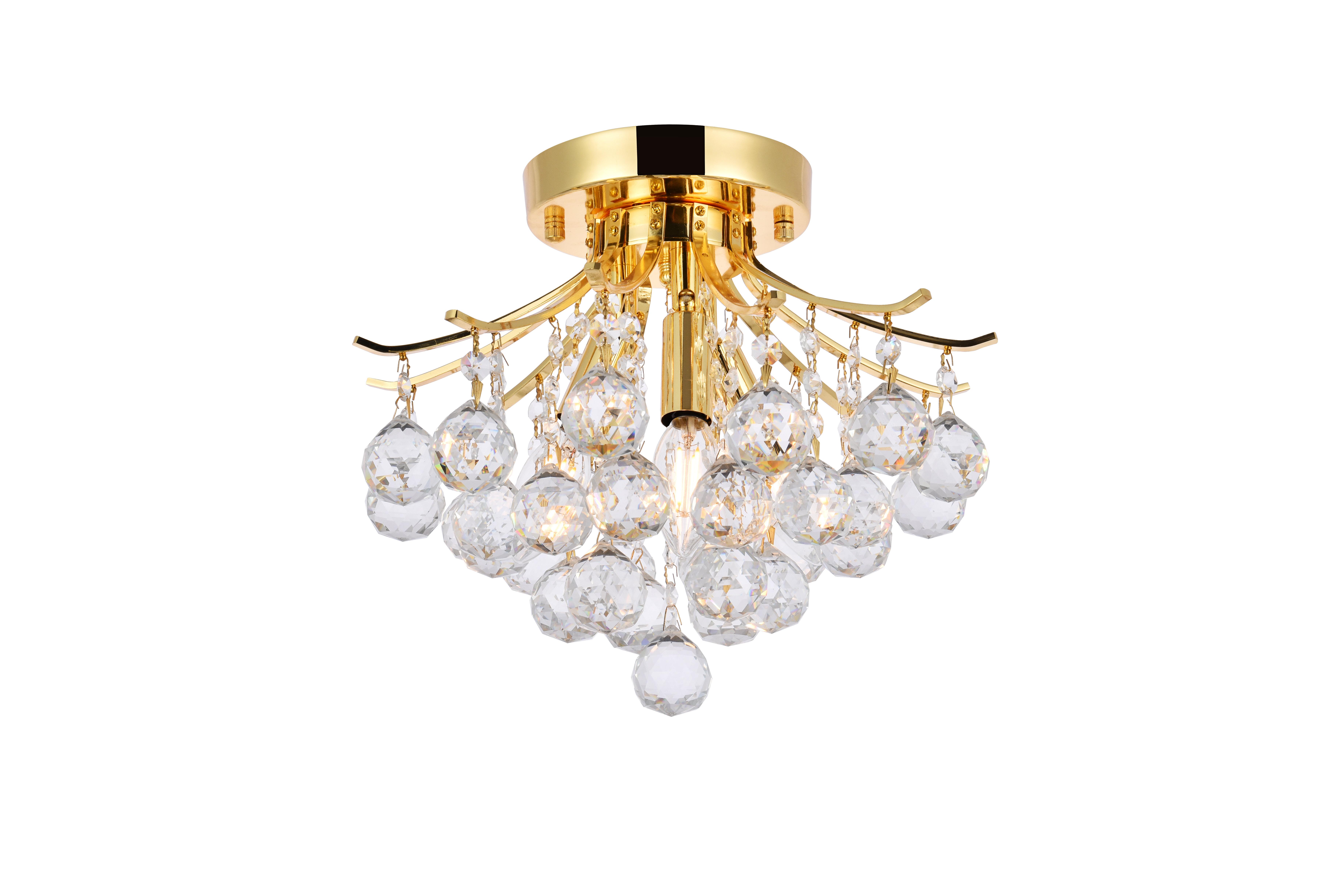 Mercer41 Mcallen 3 Light Chandelier Style Tiered Flush Mount Reviews Wayfair