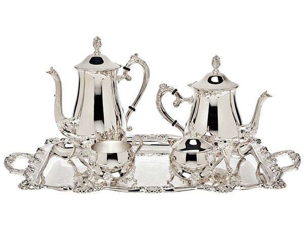 5 Piece Wellspring Coffee Server Set By Godinger Silver Art Co.