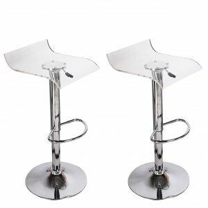 Champney Acrylic Clear Hydraulic Adjustable Height Swivel Bar Stool (Set of 2) by Orren Ellis