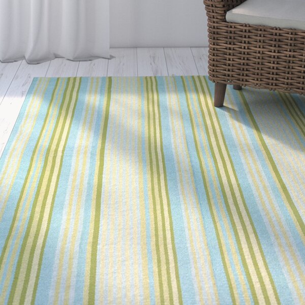 Artique Hand-Woven Blue/Yellow Area Rug by Highland Dunes