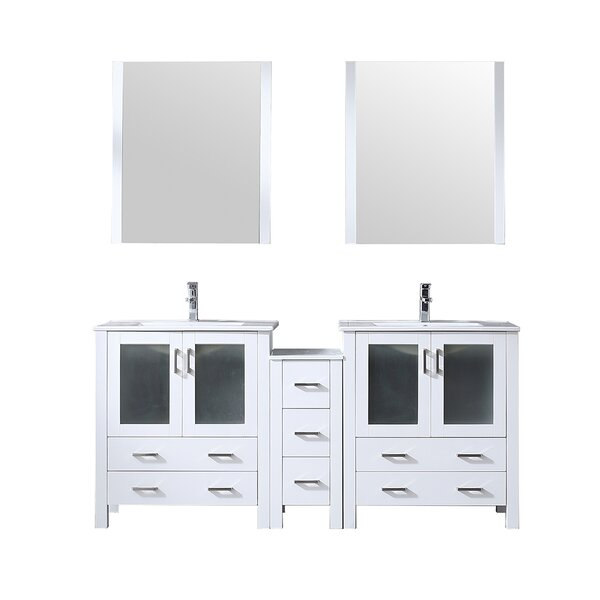 Volez 72 Double Bathroom Vanity Set with Mirror