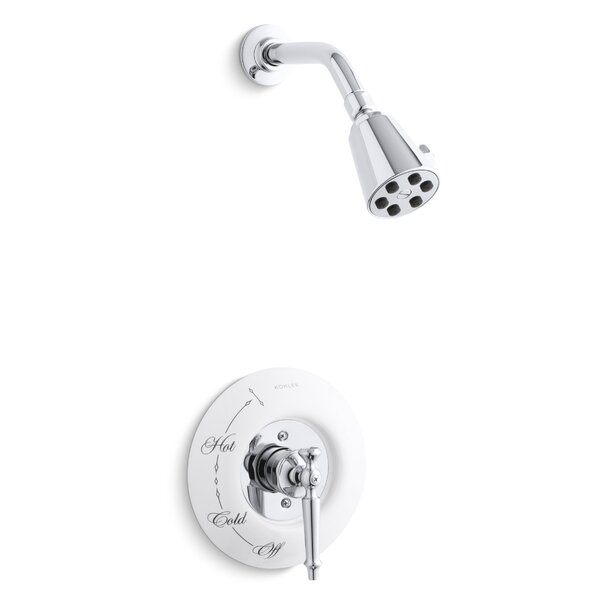 Antique Rite-Temp Pressure-Balancing Shower Faucet Trim with Lever Handle, Requires Ceramic Dial Plate, Valve Not Included by Kohler