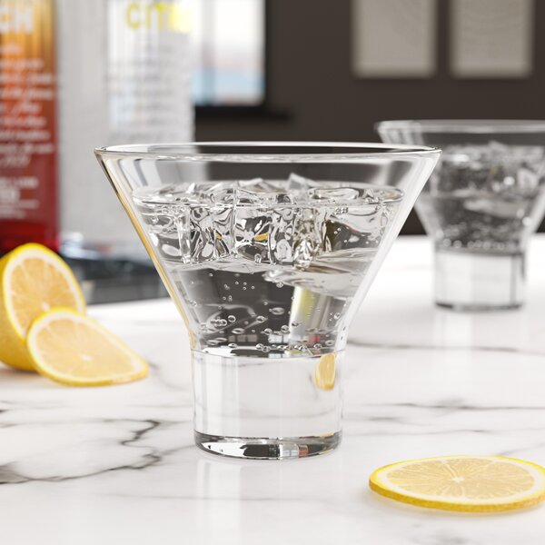 Clendon 8 oz. Martini Glass (Set of 4) by Wade Logan