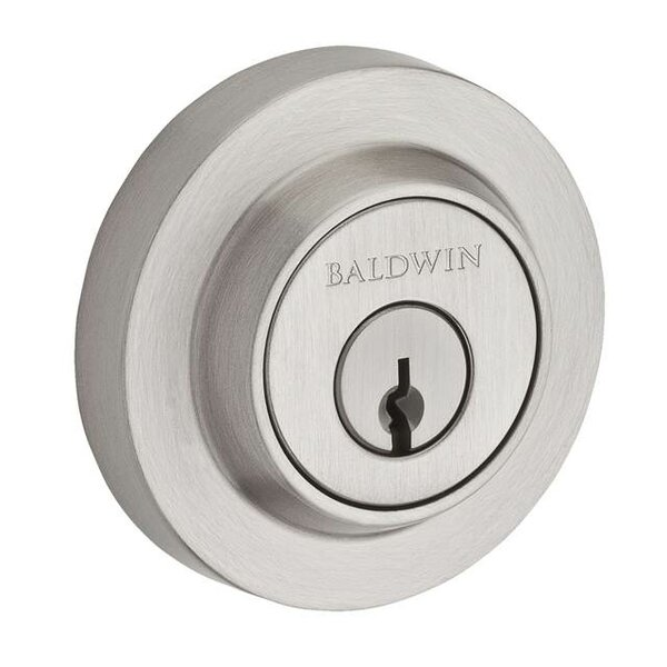 Contemporary Single Cylinder Deadbolt with Smartkey by Baldwin