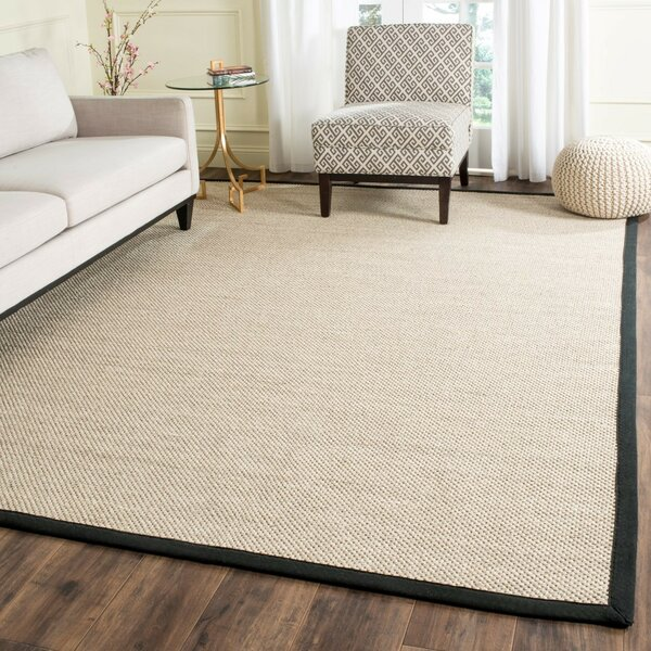 Monadnock Marble / Black Area Rug by Beachcrest Home