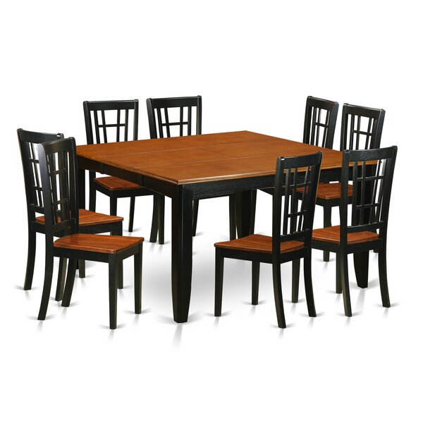 Pilning Contemporary 9 Piece Dining Set by August Grove