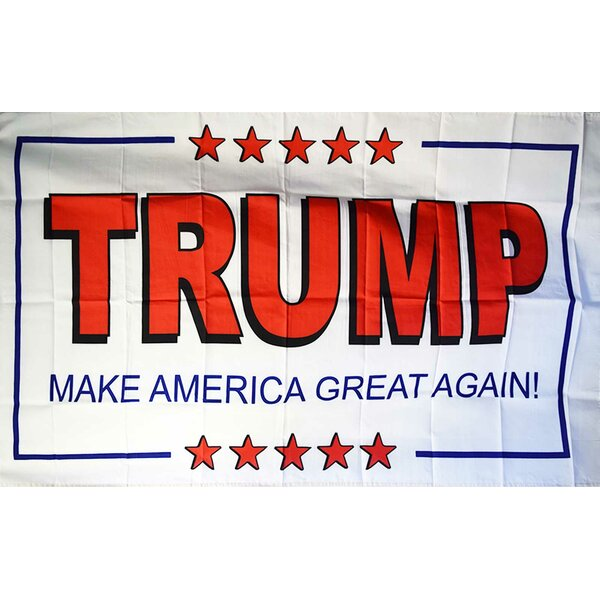 Trump 2-Sided Polyester 3x5 ft Rectangle Flag by NeoPlex