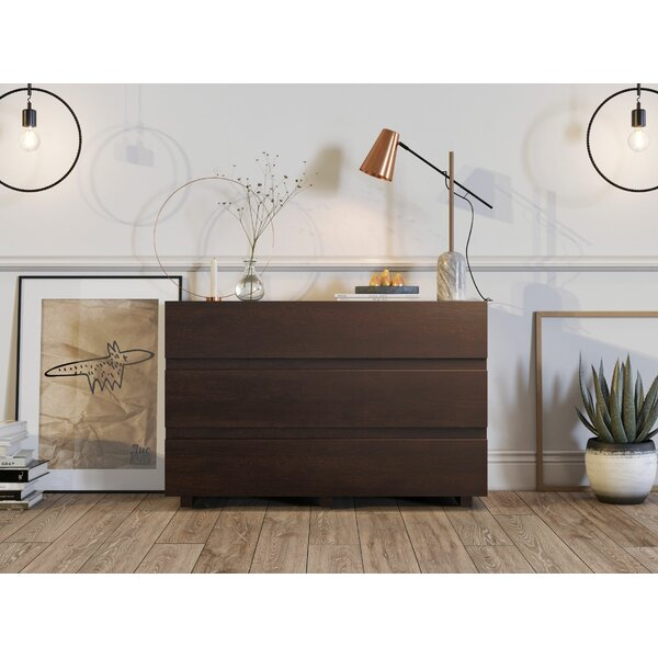 Elyza 3 Drawer Dresser by Latitude Run