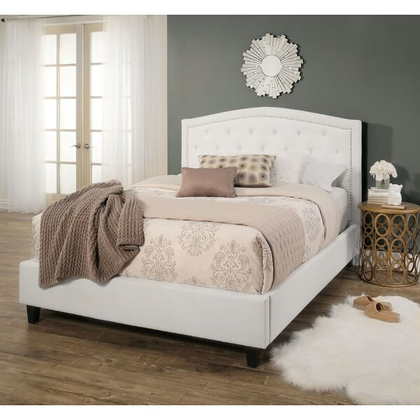 Searcy Tufted Linen Upholstered Platform Bed by Three Posts