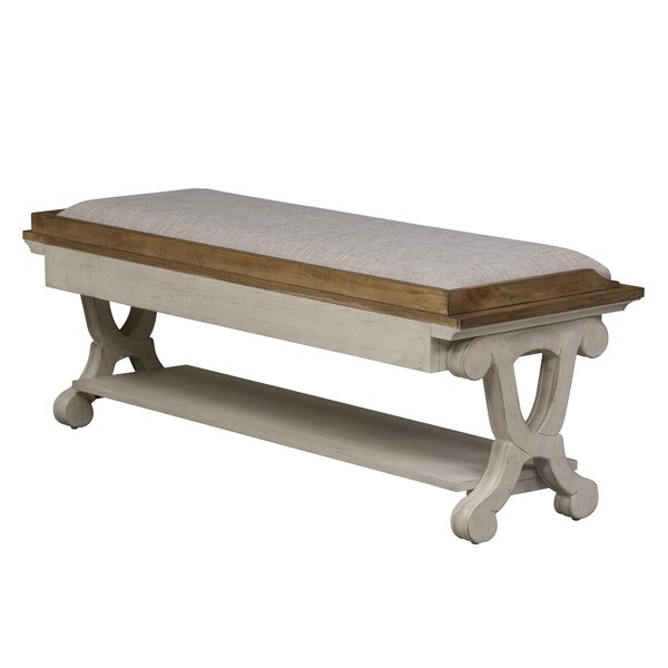 Clairmont Bedroom Wood Bench by Laurel Foundry Modern Farmhouse