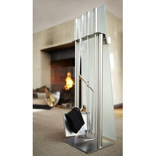 Chimo 4 Piece Stainless Steel Fireplace Tool Set By Blomus