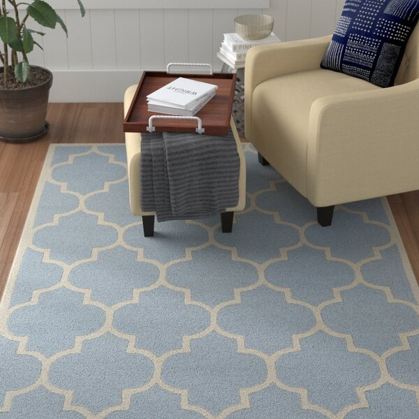 Ayler Blue Geometric Area Rug by Winston Porter