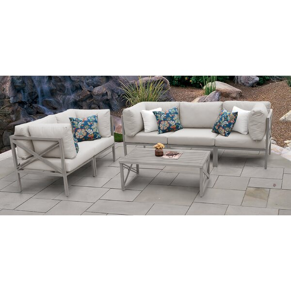 Carlisle 6 Piece Outdoor Sectional Set with Cushions by TK Classics