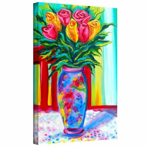 'I Love This Vase' by Susi Franco Painting Print on Wrapped Canvas by ArtWall