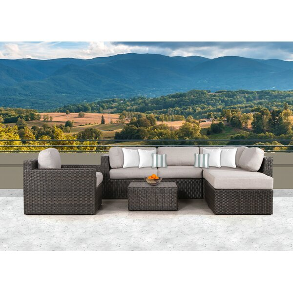 Sabin 7 Piece Sectional Set with Cushions by Rosecliff Heights
