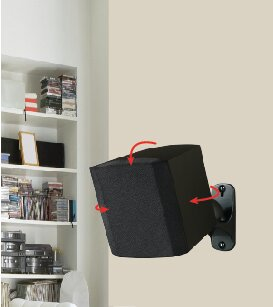 Surround Sound Universal Wall Speaker Mounts (Set of 2) by AVF