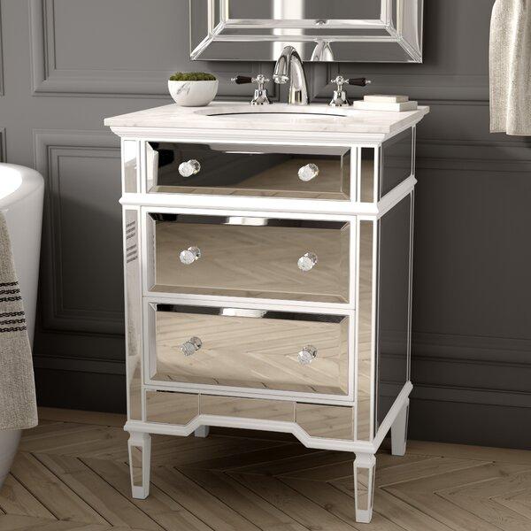 Maybery 25 Marble Single Bathroom Vanity Set by Greyleigh