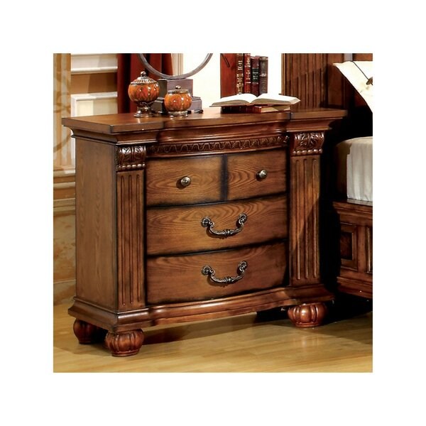 Goulet 3 Drawer Nightstand by Astoria Grand