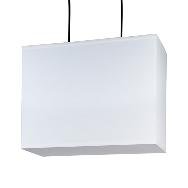 Rex 2-Light Unique / Statement Rectangle / Square Chandelier by Lights Up! Lights Up!