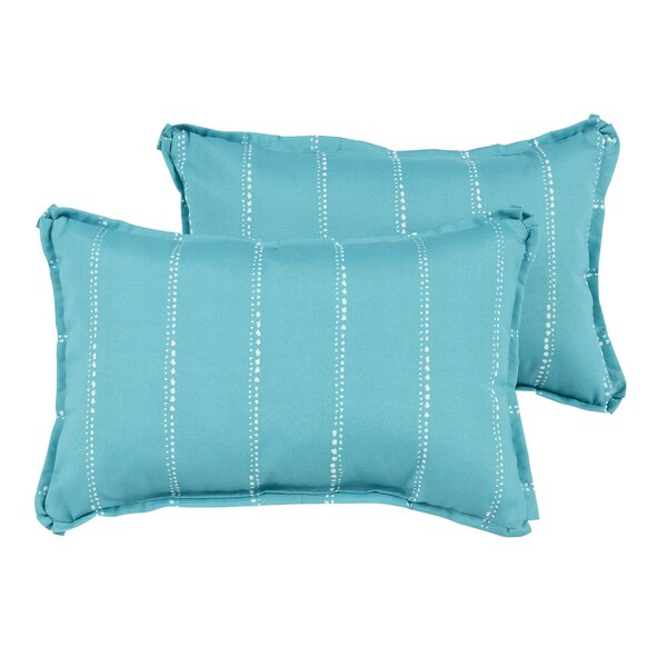 Balentine Dot Striped Indoor/Outdoor Lumbar Pillow (Set of 2) by Wade Logan
