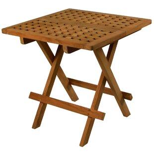 Charmant Folding Teak Side Table