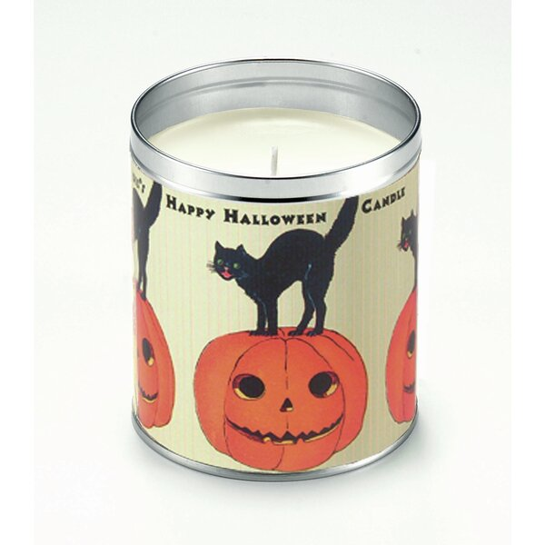 Happy Halloween Pumpkin Pie Scented Jar Candle by The Holiday Aisle